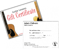 Guitar Lessons Gift Certificate